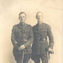 Image of Postcard - Cantrill brothers in WW I Uniforms
