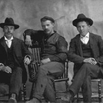 Image of Print, Photographic - Group portrait of Wes Gammon, Lou Chadsey and Fred Nelmes