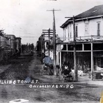 Image of Print, Photographic - Overhead view of Wellington Avenue, as seen from Five Corners
