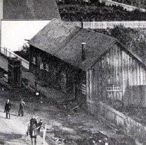Image of Print, Photographic - Overhead view of J. McLeod's General Blacksmith Shop