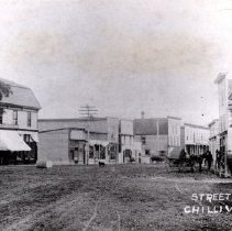 Image of Print, Photographic - Street level view of Five Corners, looking along Yale Road East