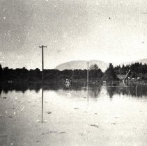 Image of Print, Photographic - View of flooded farms, fields and road in the Greendale area during the 1948 flood.