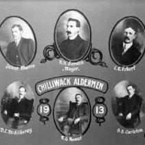 Image of Print, Photographic - Composite Portrait of City of Chilliwack Aldermen