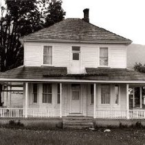Image of Print, Photographic - Front view of the Trethewey house on Prairie Central Road.