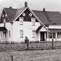 Image of Print, Photographic - Front view of the James & Nellie Bailey house