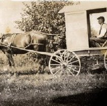 Image of Print, Photographic - Photograph of a Mail Wagon
