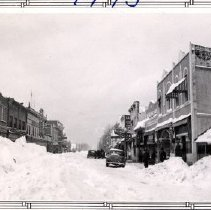 Image of Print, Photographic - View of Wellington Avenue following major snow storm.