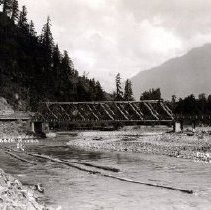 Image of Print, Photographic - View of the Vedder Bridge over the Chilliwack River / Vedder River