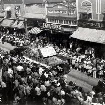 Image of Print, Photographic - Youth for Christ float in the 1948 Cherry Carnival parade.
