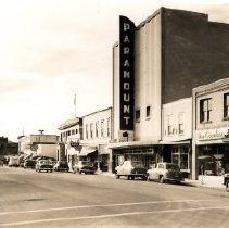 Image of Print, Photographic - Street level view of businesses on Yale Road as they appeared in the 1950's.