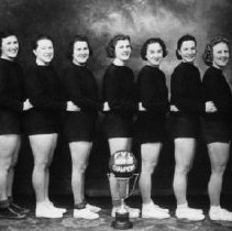 Image of Print, Photographic - Group portrait of the senior girls basketball team