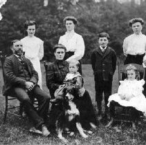 Image of Print, Photographic - Samuel and Elizabeth Calbick Family