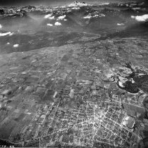 Image of Print, Photographic - Aerial view of Chilliwack, looking south towards Mt. Baker
