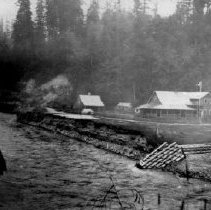 Image of Print, Photographic - View of the Vedder River Hotel on the shore of the Chilliwack / Vedder River