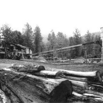Image of Print, Photographic - View of Loewen Cedar Products shake and shingle mill
