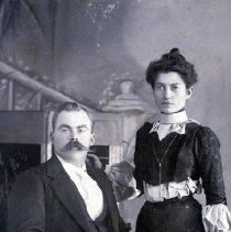 Image of Print, Photographic - Portrait of William David and Annie Kipp