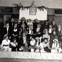 Image of Print, Photographic - Group portrait of costumed cast of the Carman Dramatic Society