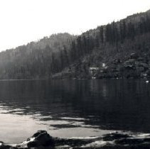 Image of Print, Photographic - View of Cultus Lake and cabins on the west side of the lake