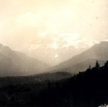 Image of Print, Photographic - View of Mount Robson and surrounding mountains and valley