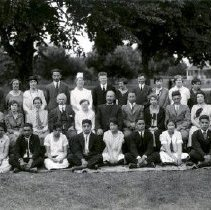 Image of Print, Photographic - Group portrait of staff and senior students of Coqualeetza Residential School.