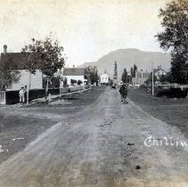 Image of Print, Photographic - Street level view of Main Street, looking towards Wellington Avenue.