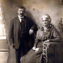 Image of Print, Photographic - Formal studio portrait of William and Elizabeth Fisher.