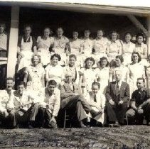 Image of Print, Photographic - Group portrait of staff and managment of the Cultus Lake Pavilion.