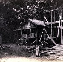 Image of Print, Photographic - Front view of the Dunwurkin cabin on the west side of Cultus Lake.