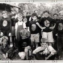 Image of Print, Photographic - Group portrait of boys at the Kinsmen Kiddie Kamp at Cultus Lake.