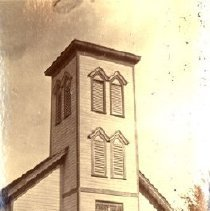Image of Print, Photographic - Front view of Cooke's Presbyterian Church on Wellington Avenue.