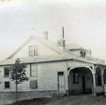 Image of Print, Photographic - Side view of the Edenbank Creamery building on Vedder Road in Sardis.