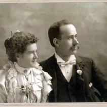 Image of Print, Photographic - Formal studio portrait of an unidentified couple