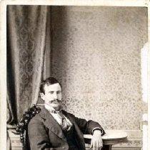 Image of Print, Photographic - Formal studio portrait of John L. Atkinson