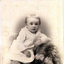 Image of Print, Photographic - Formal studio portrait of an unidentified young child.