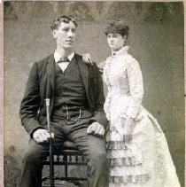 Image of Print, Photographic - Formal studio portrait of Henry C & wife