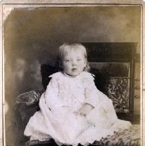 Image of Print, Photographic - Formal studio portrait of an unidentified infant child.