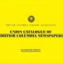 Image of Booklet - Union Catalogue of British Columbia Newspapers