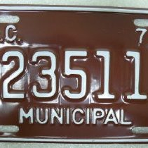 Image of Plate, License - 1985.036.003