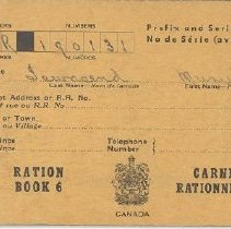 Image of Book, Ration - Ration Book 6