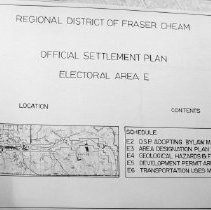 Image of Map - [Map 198] Regional District of Fraser-Cheam Official Settlement Plan