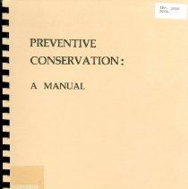 Image of Booklet - Preventative Conservation: A Manual