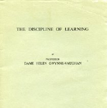 Image of Booklet - The Discipline of Learning