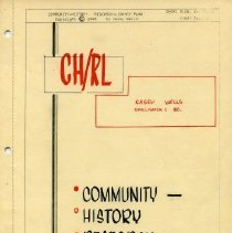 Image of Booklet - Community History Research Library