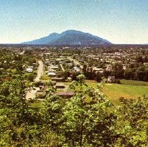 Image of Postcard - Aerial view of Chilliwack looking West