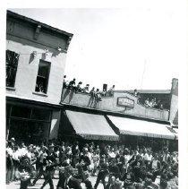 Image of Print, Photographic - Boys Junior Band on Parade on Wellington Avenue