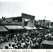 Image of Print, Photographic - Cherry Carnival Parade on Wellington Avenue