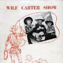 Image of Program - Wilf Carter Show Souvenir Programme