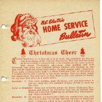 Image of Booklet - B.C. Electric Home Service Bulletin