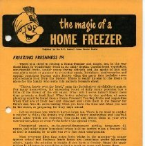 "Image of Booklet - B.C. Electric booklet ""The magic of a freezer"""