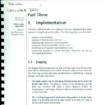 Image of Book - District of Chilliwack Ryder Lake Area Plan Part Three: Implementation